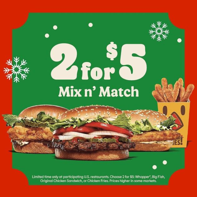 2 for $5 Mix n' Match